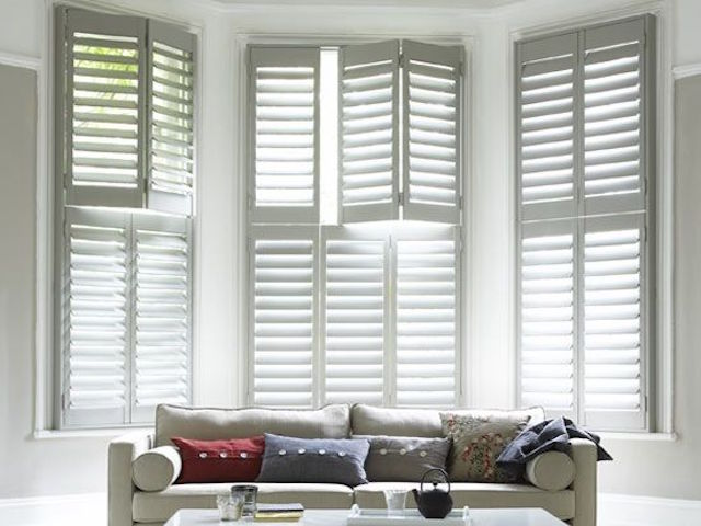 room glass amazing living vertical with interior appealing covered door sliding blinds by louver cream louvered shutters